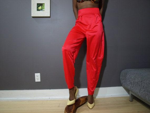 80's Red Vintage Disco Pants