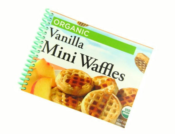 VANILLA MINI WAFFLES recycled spiral bound journal notebook