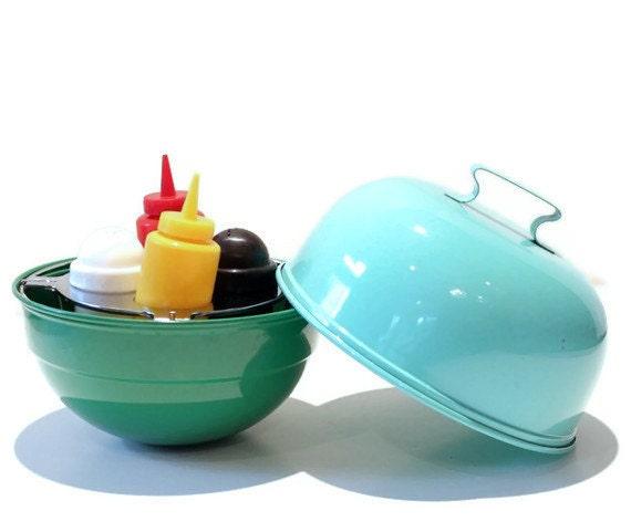 mini grill condiment caddy