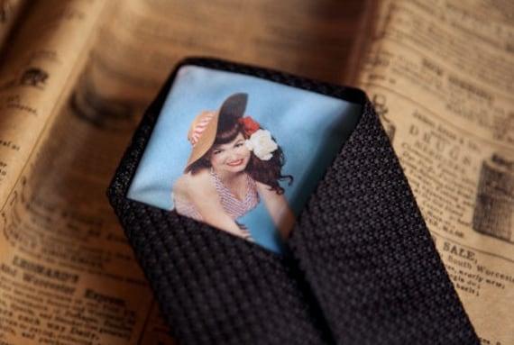 Custom Peek-a-Boo Tie with YOUR photo hidden inside.