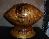 Hand Crafted Florida State Seminoles Wooden Football