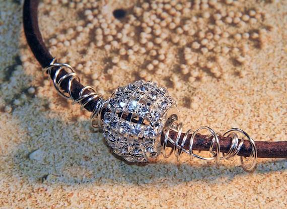 Rhinestone Glamour Ball Necklace.