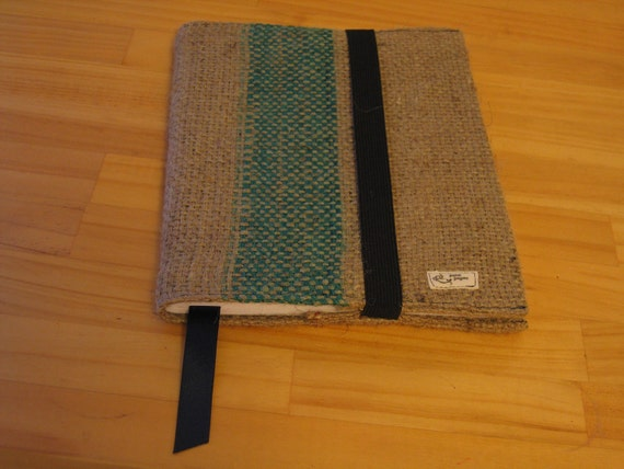 Upcycled Burlap Journal Cover