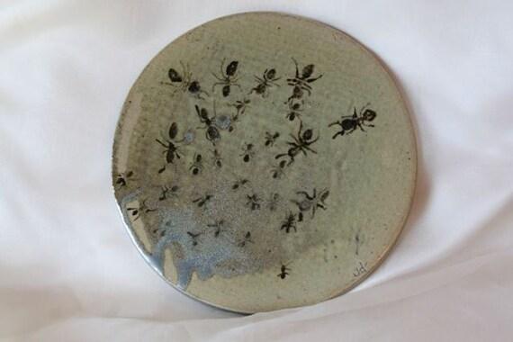 High Fire Ceramic Ant Plate