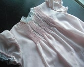 RESERVED FOR LISA  1960's Baby Pink Infants Dress with Slip