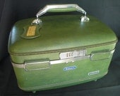 Vintage 1960's Escort Travel Case in Pea Green