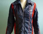 Vintage 70s windbreaker jacket red blue small medium 80s