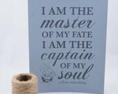 I Am // Screenprinted Poster // 8x10 Grays