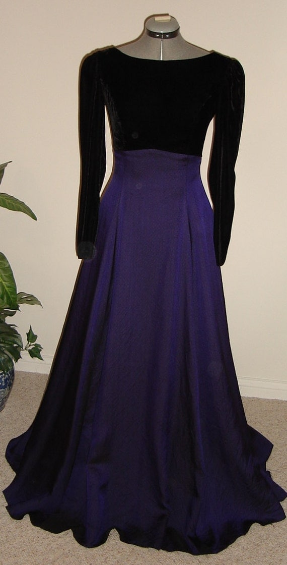 reserved for  Sharon  -   Abingdon, VA,-Velvet and silk taffeta evening gown