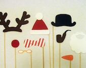 Holiday Christmas Photo booth Props - DIY Printable PDF /// Instant Download
