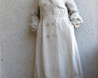 Eco friendly linen long coat