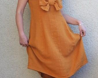 Eco friendly linen dress