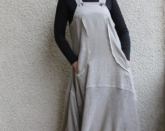 Eco friendly washed linen dress- tunic