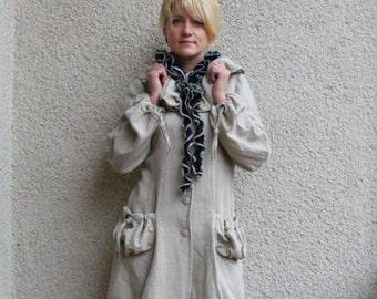 Eco friendly linen coat