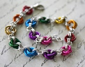 Rainbow Roses Chainmaille Bracelet NOW 20% OFF