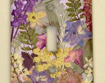 "Light Switch Plate Pressed Flower Art ""Art Prints"""