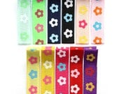 SALE - 25% OFF! Set of 11 Colorful Flowers No Slip Hair Clippies