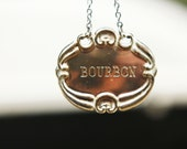 Vintage Silver Decanter Label (Bourbon)