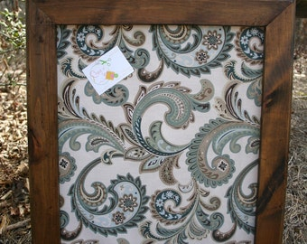 22x26 beautiful stained frame with decorative cork board - Decorative Cork Boards