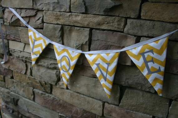 Fabric Banner, large triangle pennants