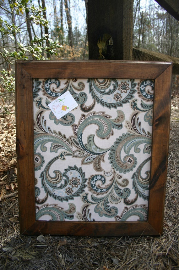 """22x26"""" Beautiful stained Frame with decorative Cork Board"""