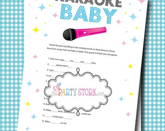 Girl Or Boy Baby Shower Games, Fun Karaoke Baby Shower Game, Unique Baby  Song