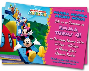 mickey mouse clubhouse invitations printable personalized, Birthday invitations