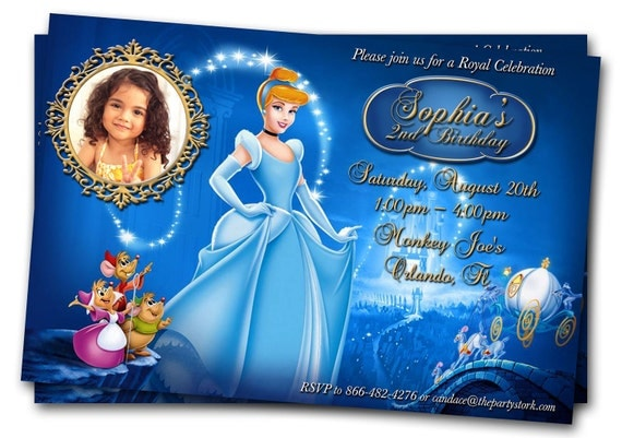 Cinderella Invitation Photo, Cinderella Birthday Invitation, Cinderella Invites, Cinderella Birthday Party Invitations, Cinderella Party