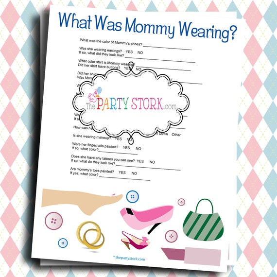 fun baby shower games what was mommy wearing printable game by the