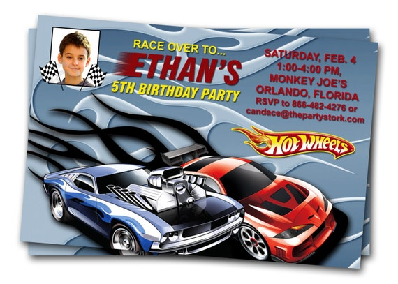 Hot Wheels Birthday Invitations is an amazing ideas you had to choose for invitation design
