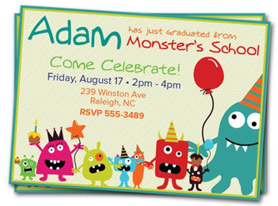 Monster Birthday Party Invitations is luxury invitations design