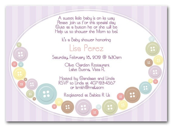 cute as a button baby shower invitations girl or boy theme printable