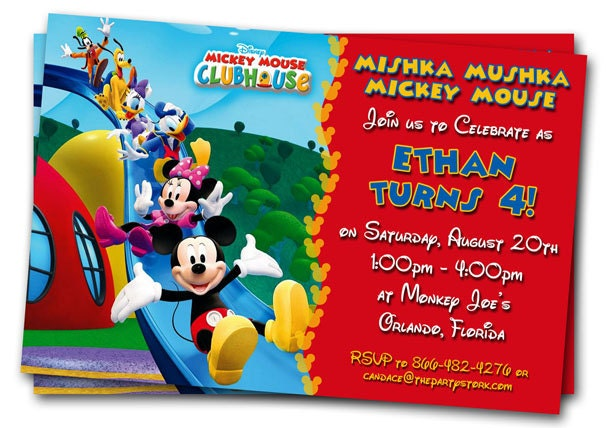 Mickey Mouse Clubhouse Invitations Printable Personalized – Free Animated Birthday Invitations