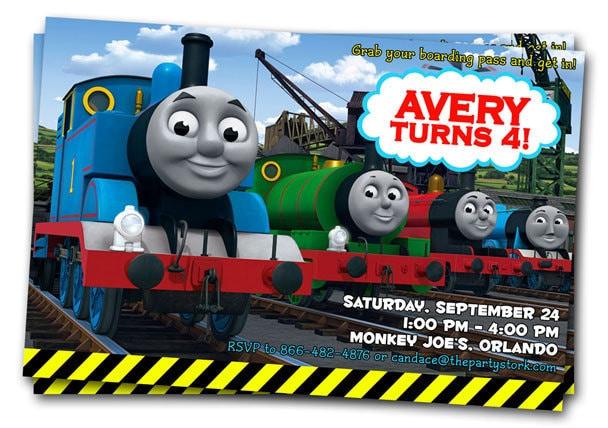 Thomas The Train Invites as nice invitations example