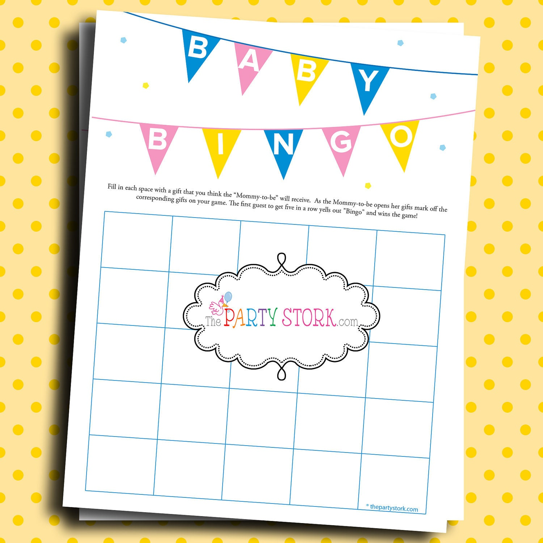 Baby Gift Bingo : Baby shower gift bingo game printable many more by