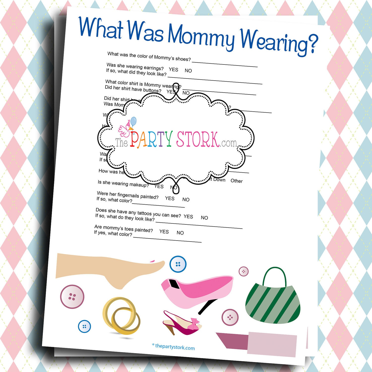 fun baby shower games what was mommy wearing printable game
