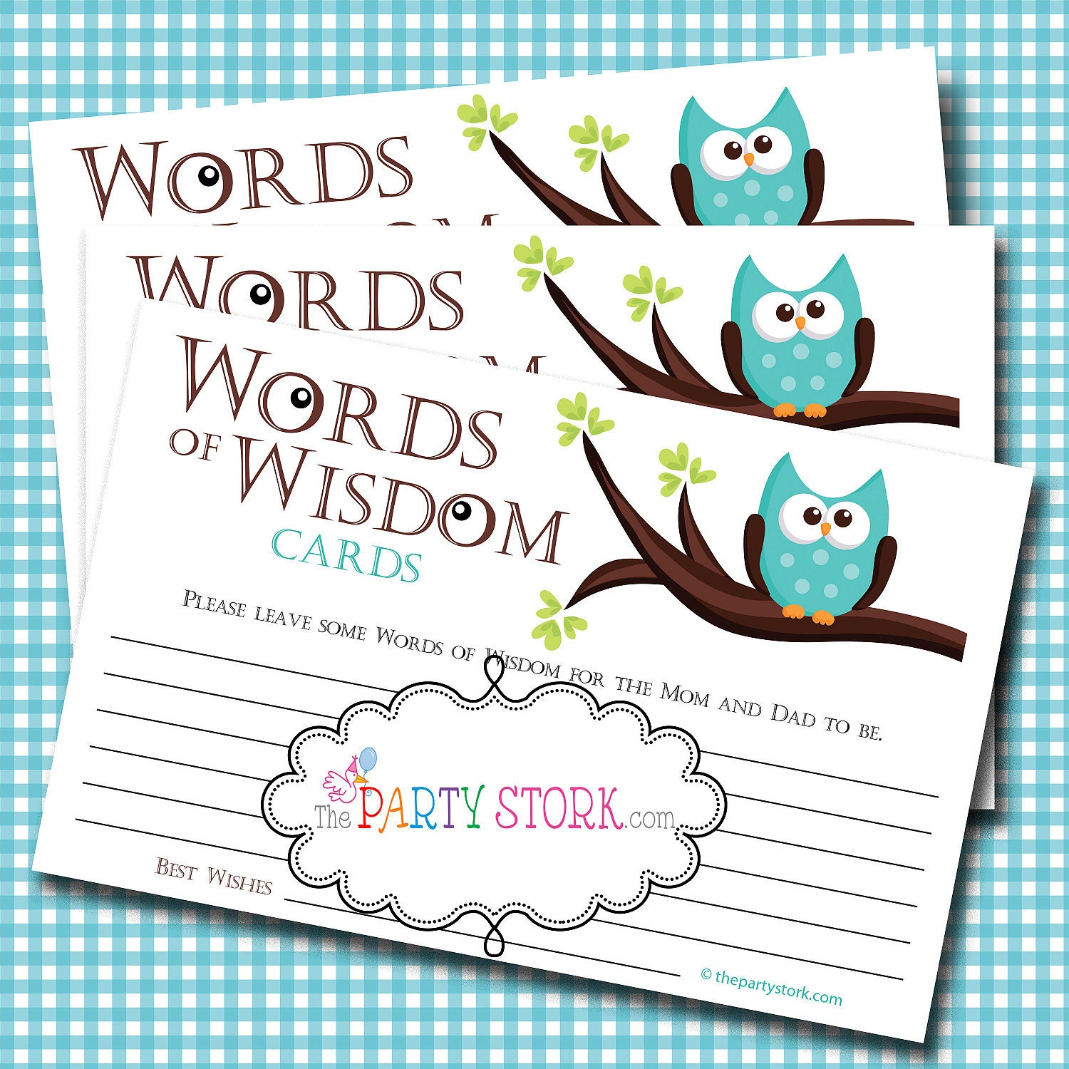 Bathroom Design Games: Words Of Wisdom Advice Cards Owl Baby Shower Games Baby