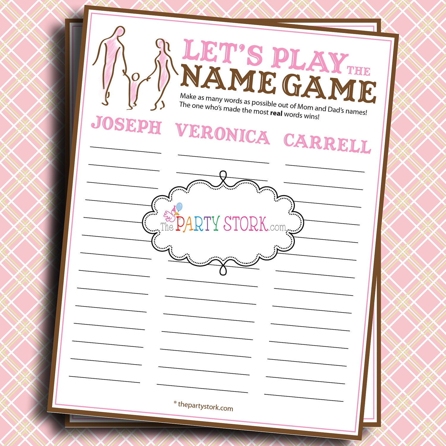 baby shower games let 39 s play the name game name the