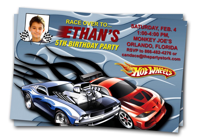 Hot Wheels Birthday Invitation as great invitations layout