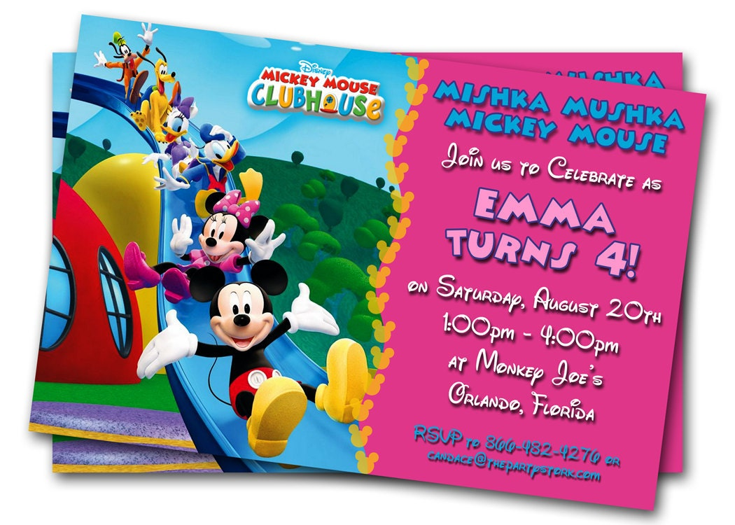 Minnie Mouse Birthday Invitations Printable Custom Kids – Kids Birthday Invitations Printable