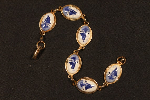 Vintage Bracelet, Delft, Blue and White