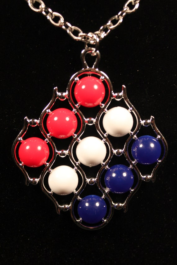 Sarah Coventry, Red, White and Blue Vintage Necklace