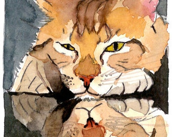 ACEO Limited Edition 6/10- Oh Be Serious, in watercolor