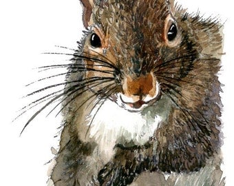 ACEO Limited Edition 7/10- My Friend the Squirrel
