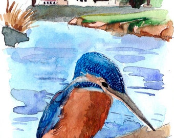 ACEO Limited Edition 1/25-  Province of Summer, in watercolor