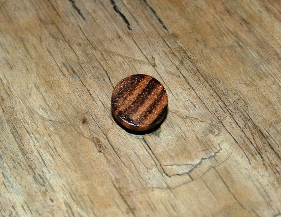 Wood Tie Tack Magnetic Tie Clip Handmade Zebrawood Rustic