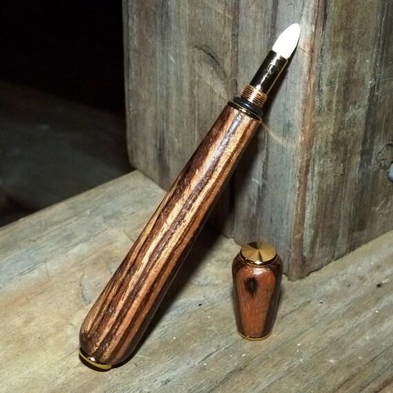 Wood Perfume Pen Handmade Zebrawood Perfume Pen Gold - Fragrance, Womens Accessory, Perfume Flask