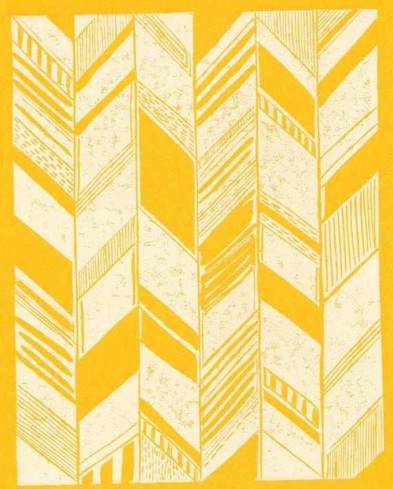 Pohoa yellow/white Print