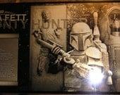 Star Wars Boba Fett Slave-1 Han Solo Limited Edition Geekograph Metal Art