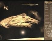 Star Wars Millennium Falcon Han Solo Chewbacca Limited Edition Geekograph Metal Art